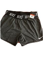 nike dri fit shorts large Girls Color Gray New