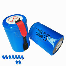 9x 1600mAh Ni-CD 4/5SC SubC Sub C 1.2V Rechargeable Battery with Tab univerisal