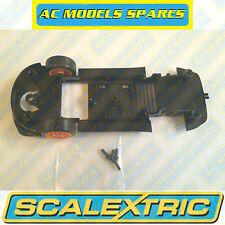 W9815 Scalextric RICAMBIO underpan & Arancione ruote anteriori per Porsche 997