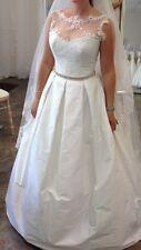 Stunning Stephanie Allin Wedding Dress. Rrp £3,000. Silk. Lace. Kelly Dress.
