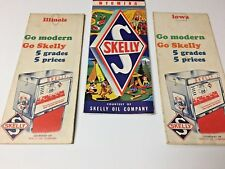 SKELLY LOT OF 3 HIGHWAY MAPS
