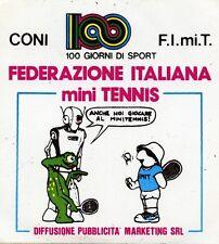 ADESIVO/STICKER * FEDERAZIONE ITALIANA mini TENNIS * CONI - F.I.mi.T.  *