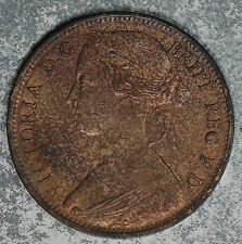 Almost Uncirculated/Slider 1863 Great Britain One Penny!!