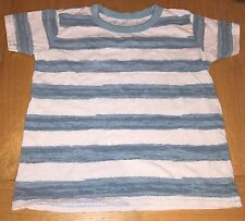 Boys Green And White Striped T-shirt Size 3-4 Years