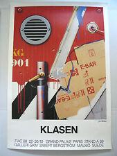 """Affiche originale Peter KLASEN signée FIAC 88 """"Aération KG 901"""" Allemagne Kodak"""