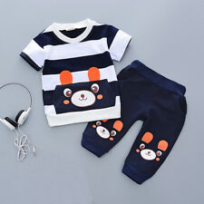 Toddler Kids Baby boys summer Outfits Clothes T-shirt& short Pants 2PCS Set