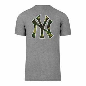 MLB New York Yankees Ny T-Shirt Backer Splitter Grey Camoflauge Camouflage