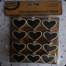 heart blackboard chalk board tags clips lolly buffet place setting  wedding