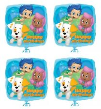 "4x NEW Bubble Guppies 18"" Foil Balloon Birthday Decorations ~Party Favor Supply~"