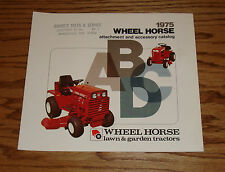 Original 1975 Wheel Horse Tractor Attachment & Accessory Sales Brochure 75