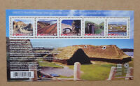 2017 CANADA UNESCO WORLD HERITAGE SITES STAMP SHEETLET 5 STAMPS
