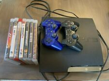 Playstation 3 Slim 120GB PS3 + Two Controllers + 7 Games Bundle
