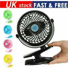 Mini Rechargeable Handheld Clip Fan with Stand Cradle Personal Desk Small Mobile Portable Fan for Computer Laptop Home Outdoor Indoor Travel Unionm USB Fan