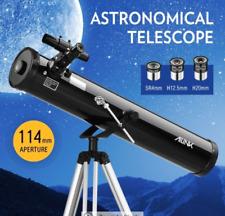 Astronomical Telescope Aperture 114mm 675x Zoom w/ Tripod 6X30 Finderscope Lens