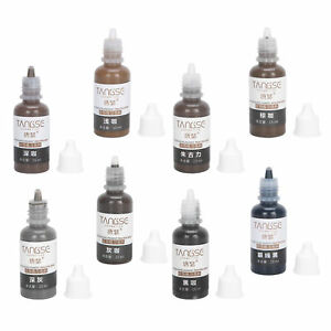 15ML SemiPermanent Makeup Pigment Ink Eyebrow Color Cosmetic Tattoo Microblading