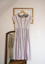 Vintage 1950s 50s Dove Grey Pink Dress