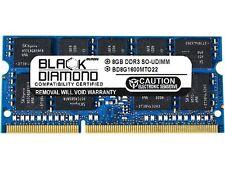 Black Diamond Memory 8GB 204-Pin DDR3 SO-DIMM ECC Unbuffered DDR3 1600 (PC3 1280
