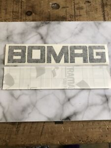 2 X BOMAG DOUBLE DRUM  ROLLER OR PLATE COMPACTOR DECALS  240mm X 45mm BLACK