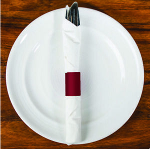 6 x 1.5 Burgundy Napkin Bands(4000) Self Adhesive Ships Free($0.008/pc)