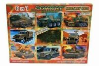 New 8-In-1 Kit Combat Mission Military Plus war Machines and Bonus 30 Soldiers