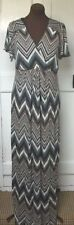 Short Sleeve Geometric Plus Size Maxi Dresses for Women