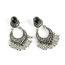 Silver Golden Vintage Flower Drop Tibetan Jewelry Beads Tassel Boho Earrings