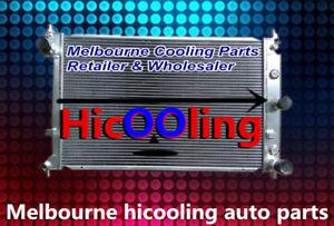 3 Row 52MM Aluminum Radiator For Ford Falcon XR6 XR8 BA BF Turbo V8 AT MT 02-08