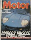 Motor magazine 15 February 1986 featuring Marcos Mantula, Austin Healey, Subaru