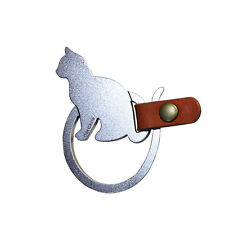 Cat Circle, Animal Key Chain Holder, stainless steel, scratch fingerprint resist