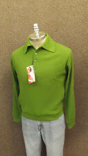 NWT Vtg 60s Gary Player Golf Sweater sz M Olive Green Orlon Acrylic MOD RAT PACK