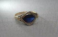 Vintage Art Deco Natural Sapphire WWW 10K Yellow Gold Ring