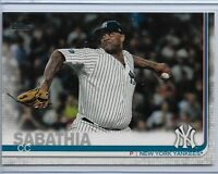 2019 Topps Series 2 Baseball Short Print Variation CC Sabathia #486 NY Yankees