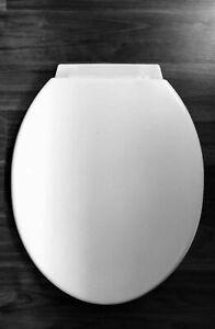 STANDARD SIZE PLASTIC WHITE TOILET SEAT FITTING BATHROOM SEATS WC
