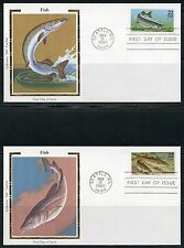UNITED STATES COLORANO 1986 FISH SET OF FIVE  FIRST DAY COVERS