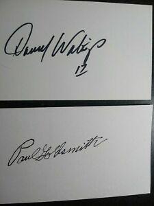 DARELL WALTRIP & PAUL GOLDSMITH 2 Hand Signed 3X5 INDEX CARD - NASCAR LEGENDS