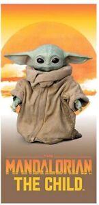 NEW Star Wars The Mandalorian The Child 28x58 Beach Towel Grogu Baby Yoda