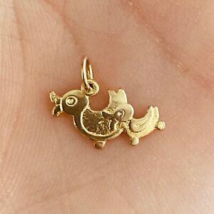 NEW 9ct Yellow Gold Ducks Charm 375 Pendant 9KT Carat 9K Family Quack Bird Swim