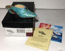 Just The Right Shoe Enchanted Miniature Shoe Figurine Rare Slip on Mini