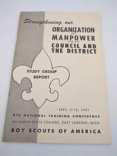 Vintage Boy Scouts of America Study Group Report Book Sep 5-12 1951