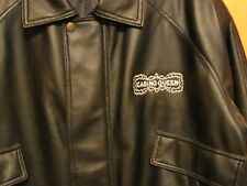 Casino Queen  Large  Black  Leather Coat Jacket Gambling USA   NEW