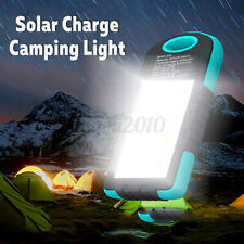 Solar Power Emergency LED Light Portable Bank USB Battery Charger Camping