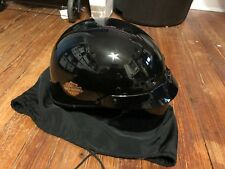 Harley Davidson Black Half Shell Open Face Motorcycle Helmet DOT Size Small LOO