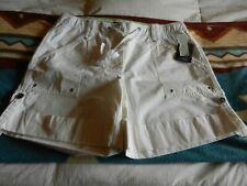 NWT Liz Claiborne Ladies White Cotton Shorts, Size 14 R
