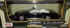 1964 1/2 Ford Mustang Convertible Die-cast Car 1:18 Motormax 9.5 inches Black