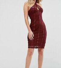 Cross front lace pencil dress with panelled corset detailing by naanaa