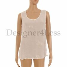 Linen Patternless Blouse Collarless Tops & Shirts for Women