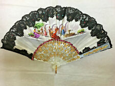 EUROPEAN CLOTH & BLACK LACE FAN