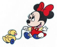 New listing baby minnie Disney fabric applique iron on toy ducky not embroidered 3 inch