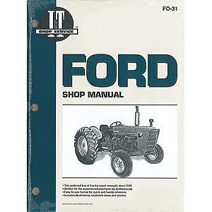 I&T Shop Manual - FO-31 Fits Ford 2000 2000 3000 3000 4000 4000