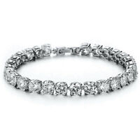5Ct Diamond Tennis Bracelet 1 Row Round Diamond 14K White Gold Finish